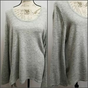 Kensie Plus Size Pull Over Bell Sleeve Sweater XXL